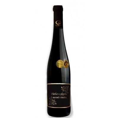 0,75 L Darčekové víno Červené Renana metalická  etiketa