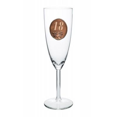 25,35,45,55,65,80 rokov Pohár na sekt a šampanské kovová etiketa