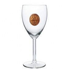 25,35,45,55,65,80  rokov Pohár na víno  kovová etiketa