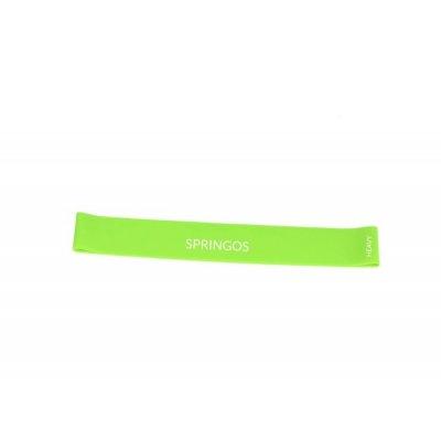 SPRINGOS Fitness guma na cvičenie - odpor 15-20kg - zelená