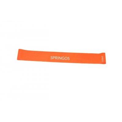 SPRINGOS Fitness guma na cvičenie - odpor 5-10kg - oranžová