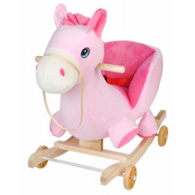 Hojdacie kreslo 2v1 - Koník ružový