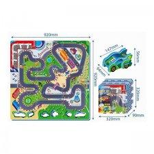 Hracia podložka 2v1 – Závodná dráha + auto
