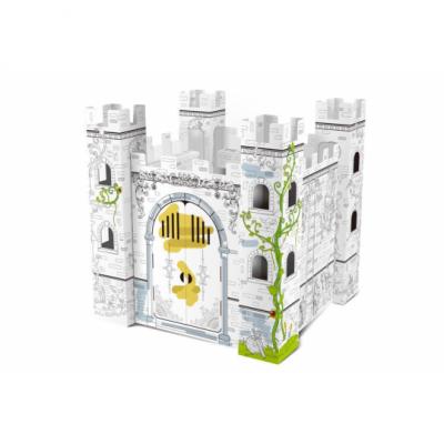 Kartónový 3D palác na vymaľovanie