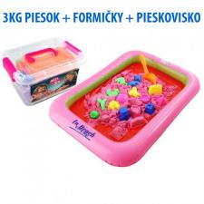 SPRINGOS Kinetický piesok 3KG + formičky + pieskovisko