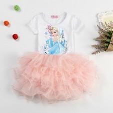 Kostým ELSA ružové šaty