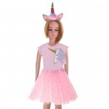 Kostým na karneval: Baletka Jednorožec - ružový