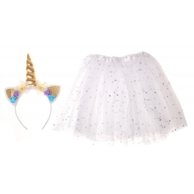 Kostým na karneval: Baletka Jednorožec - biely