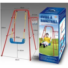 Kovová hojdačka s basketbalovým košom