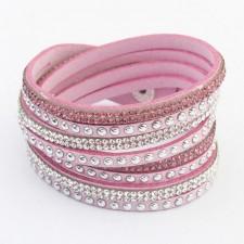 Kožený náramok - Pink
