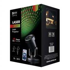 Laserový dekoratívny projektor – zel./čer. bod., ovl., čas.