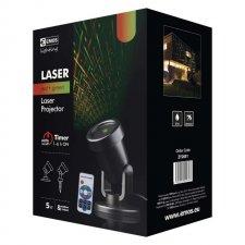 Laserový dekoratívny projektor – zel./červ. sieť, čas., ovl.