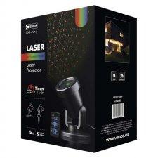 Laserový dekoratívny projektor – zel./mod. bod., čas., ovl.