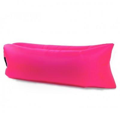 Lazy bag – nafukovací vak: tmavo ružový