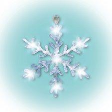 LED dekorácia do okna, akryl, snehová vločka, 30cm, 4,5V
