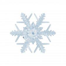 LED dekorácia do okna, snehová vločka, s prísavkou, 3V