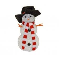 LED dekorácia, snehuliak, 17cm, 4,5V