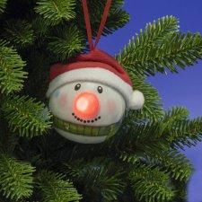 LED guľa so snehuliakom