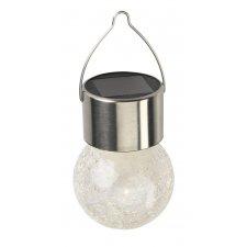 LED Solárna lampa záhradná MOON Inox