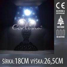 LED svetelná ozdoba vnútorná - na batérie - Lampa - 18x26,5CM - Studená biela