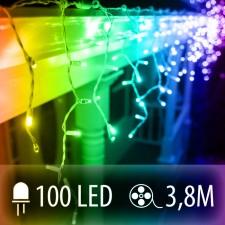 LED SVETELNÁ ZÁCLONA 100LED 3.8M COLOR MIX