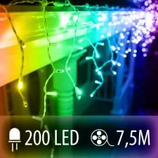 LED SVETELNÁ ZÁCLONA 200LED 7.5M COLOR MIX