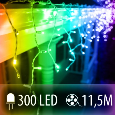 LED SVETELNÁ ZÁCLONA 300LED 11.5M COLOR MIX