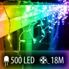 LED SVETELNÁ ZÁCLONA 500LED 18M COLOR MIX