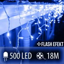 LED SVETELNÁ ZÁCLONA FLASH 500LED 18M MODRÁ