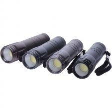 LED svietidlo 3W COB, na 3x AAA, 1 ks