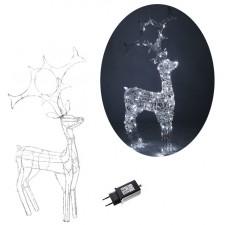 Led vianočná ozdoba 3D Jeleň 80LED 120CM