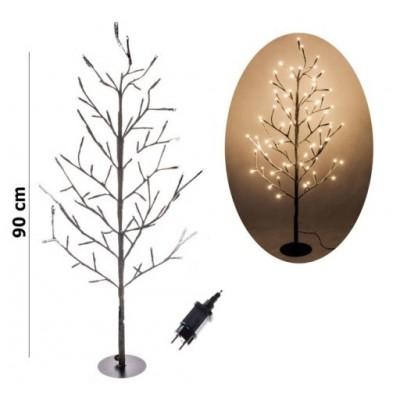 LED vianočná ozdoba STROM 90 cm 72 Led
