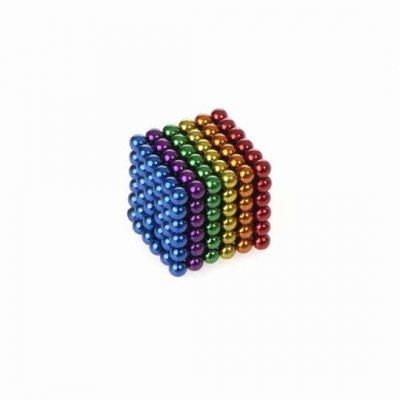 Magnetické guličky NeoCube 3mm - 216ks - farebné + box