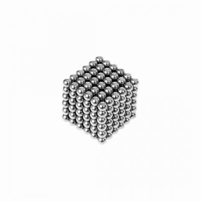 Magnetické guličky NeoCube 3mm - 216ks - strieborné + box