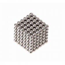 Magnetické guličky NeoCube 5mm - 216ks - strieborné + box
