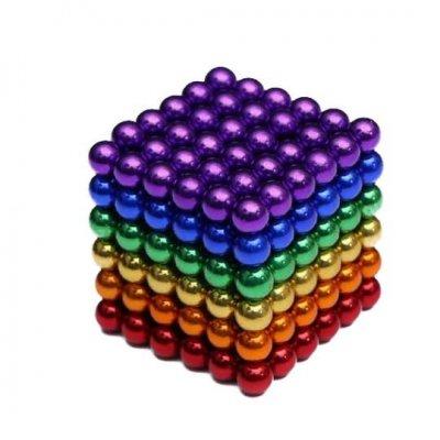 Magnetické guličky NeoCube 5mm - 216ks - farebné + box