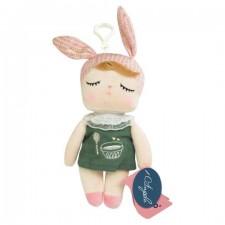 Malá závesná bábika MeToo v zelených šatách - 18 cm