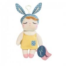 Malá závesná bábika v žltých šatách - 18 cm