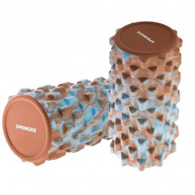 SPRINGOS Masážný VÁLEC GUM 33 x 14 cm Brown&Blue