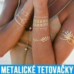 Metalické tetovačky na telo