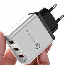 Nabíjačka na telefón - 3x adaptér USB pre rýchle nabíjanie