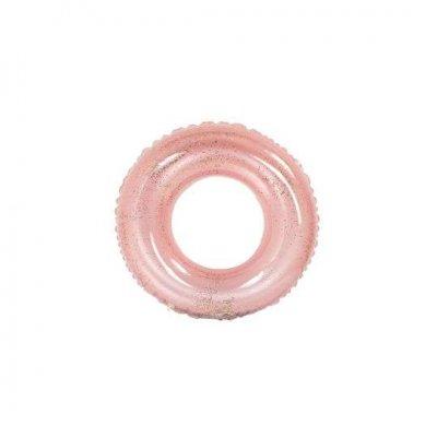 Nafukovacie koleso s trblietkami: Ružové – 120 cm