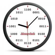 Nástenné binárne hodiny – čísla