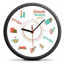 Nástenné hodiny pre ženy
