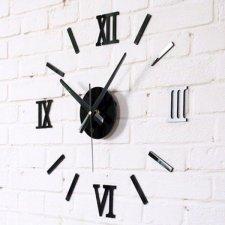 Nástenné hodiny s rímskymi číslicami – čierne