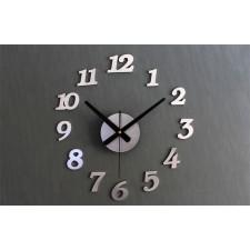Nástenné hodiny – strieborné