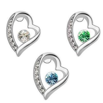 Swarovski náušnice Heart Crystal rôzne farby