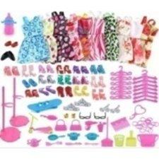 Oblečenie pre bábiky a príslušenstvo – 85 ks