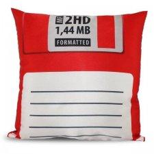 Obliečka na vankúš: Disketa – červená