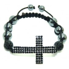 Shamballa náramok black Cross